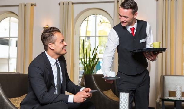 hotel guest friendly waiter