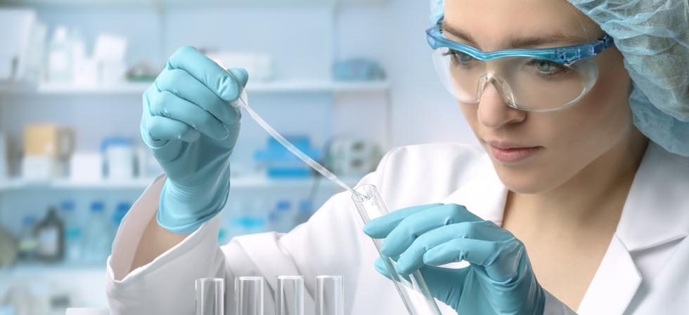 laboratory technician test tube researach