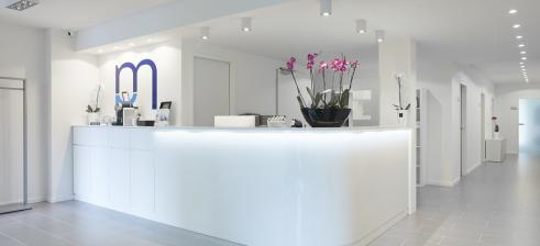 reception counter physiotherapy practice Marsch Berlin