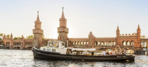 Boat trip on river Spree